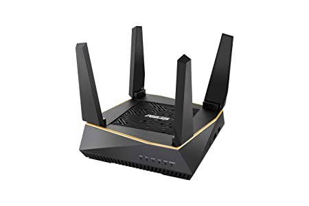 ASUS RT-AX92U - Router Inalámbrico Broadcom Dual Core AX6100 Tri-Banda Gigabit (OFDMA, Triple VLAN, Modo Punto de Acceso, AiProtection Pro, soporta Ai Mesh WiFi), 1 unidad (120m2)