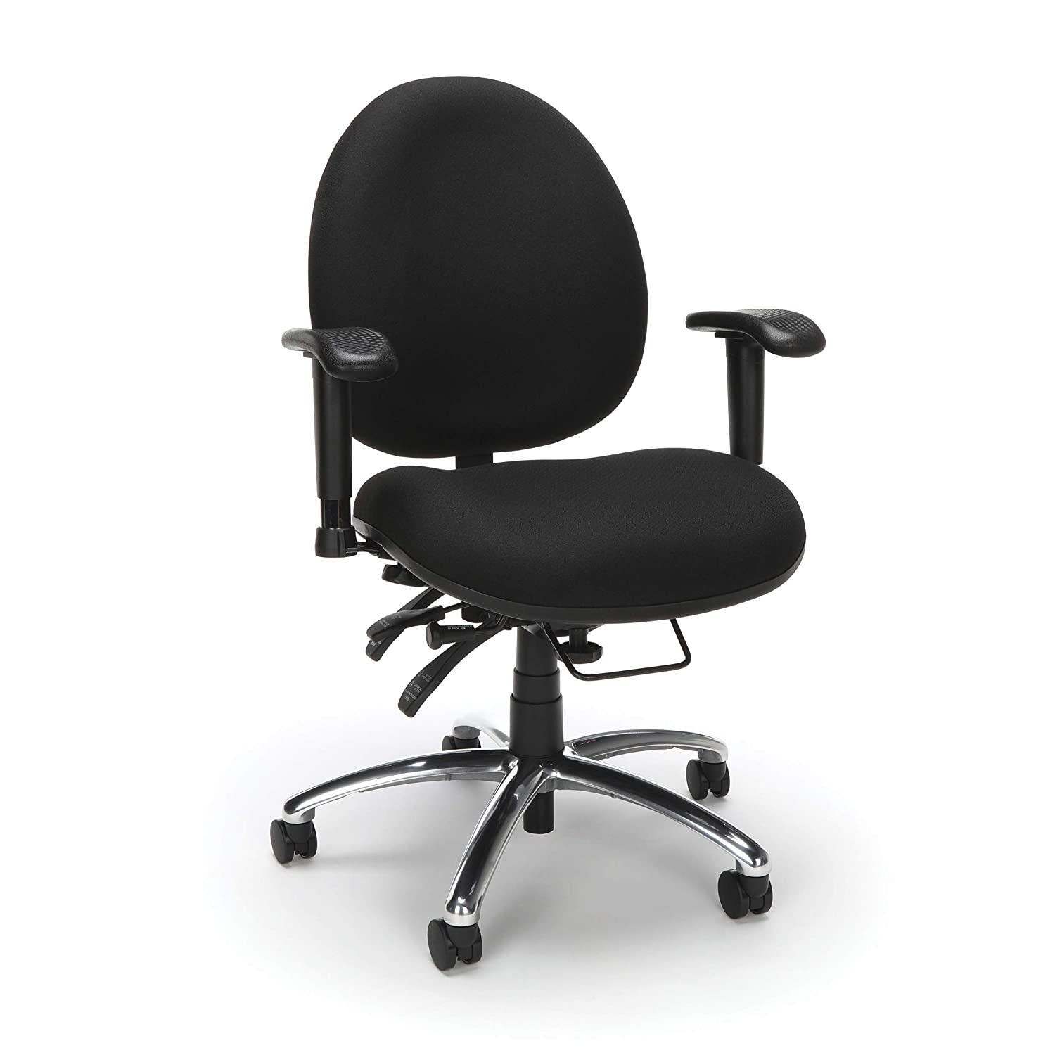 Amazon Com Ofm Core Collection 24 Hour Big And Tall Ergonomic Task Chair Computer Desk Swivel Chair With Arms In Black Furniture Decor