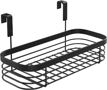 Black Bz Products Metal Over The Cabinet Kitchen Storage Organizer Basket For Kitchen Pantry Storage Organization Cabinet Drawer Organization