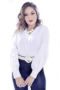 Camisa Mania de Sophia Mangas Bufantes Branca