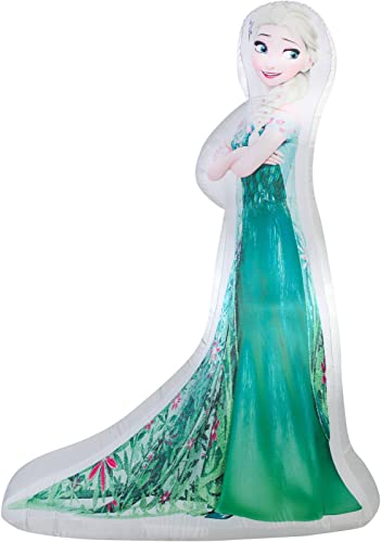 Gemmy Airblown Inflatable Elsa Frozen Fever Dress 5ft