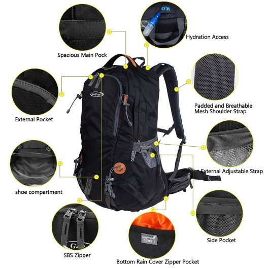 G4Free Outdoor Sports Hiking Backpack Specification