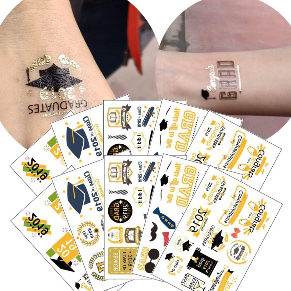 Amazoncom 10 Sheets Graduate Temporary Tattoo Stickers For Class