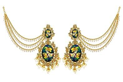 2020 Telugu Fashion News - Love In Ear Rings - Radha Krishna Ear Rings