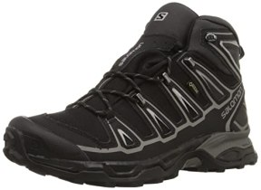 Salomon Men's X Ultra Mid 2 GTX Multifunctional Hiking Boot, Black/Black/Aluminum, 8.5 M US