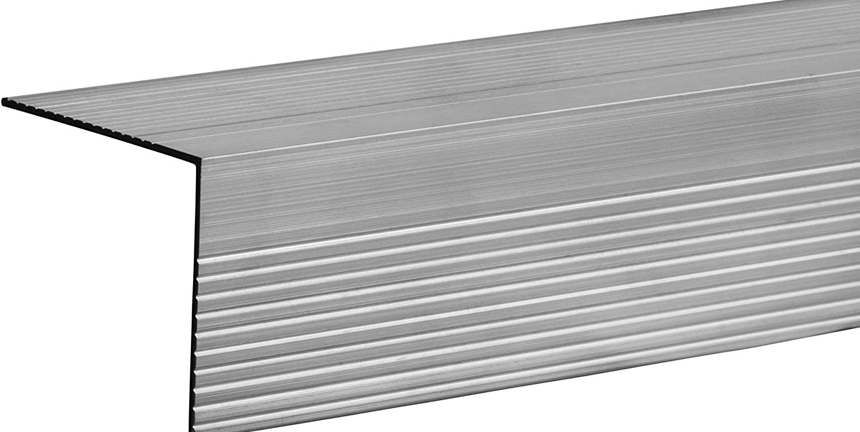 Stair Nosing 48 Aluminum Mill Amazon Com | Carpet Stair Nosing Metal | Anti Slip Stair | Laminate Flooring | Edge Trim | Edging Nosings | Inserts