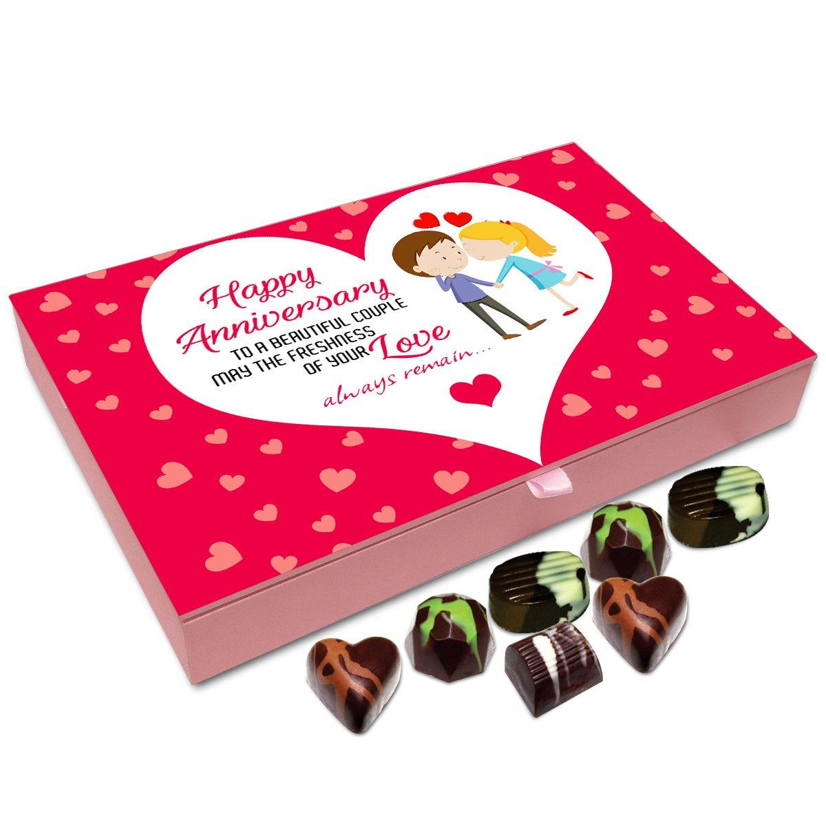 Chocholik Anniversary Gift Box – Happy Anniversary to The Beautiful Couple Chocolate Box – 12pc