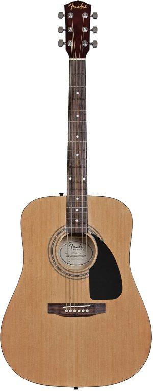 Fender Acoustic Guitar Bundle with Gig Bag, Tuner, Strings, Strap, Picks, Austin Bazaar