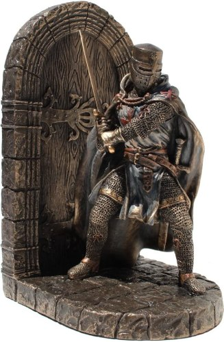 Medieval knight bookend