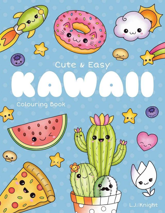 Amazon.com: Cute and Easy Kawaii Colouring Book: 26 Fun and