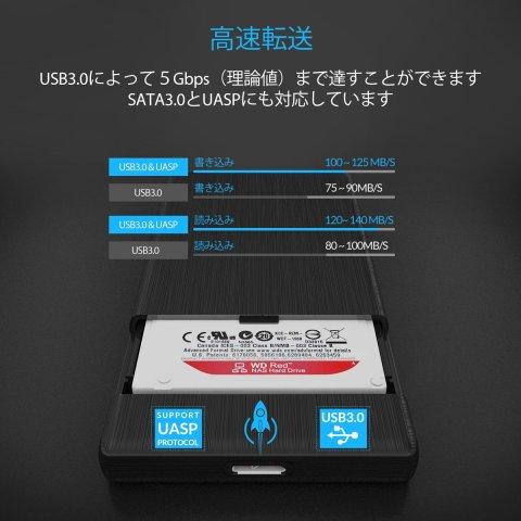 ORICO  2.5インチ HDDケース 高速伝送