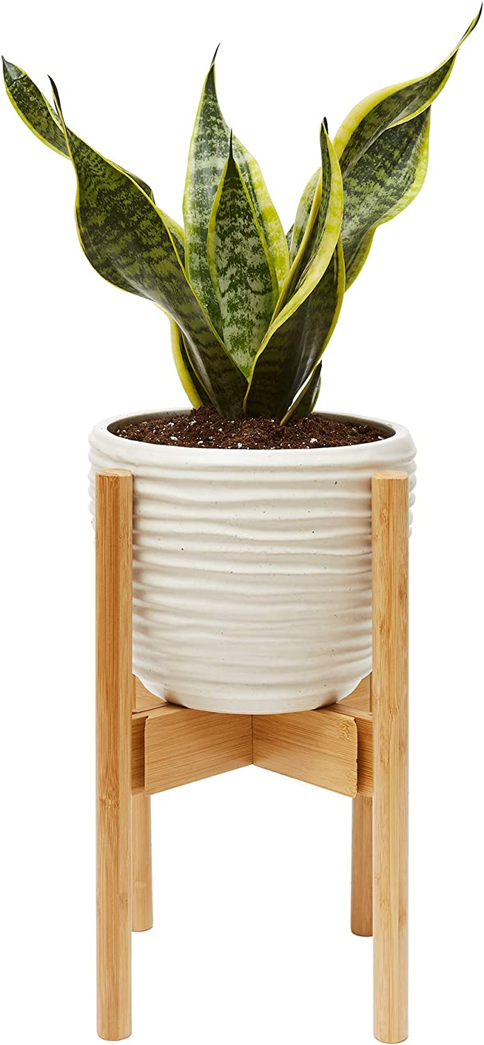 Wood Plant Pot Holder Modern Planter Decor Holders Indoor Living Room Fireplace Kitchen Bedroom Wooden Stand For Plants Flowers Bamboo Flower Fig Tree Fern 10inch Pot Decorative Floor Display Amazon Co Uk Garden Outdoors