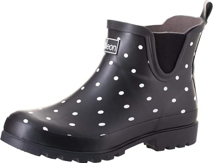 Jileon Ankle Height Wide Calf Rain Boots - Specially Designed for Ladies with Wide Feet & Calves - Womens Ankle Rain Boots - Plus Size Boots Extra Wide Calf - 5 Designs