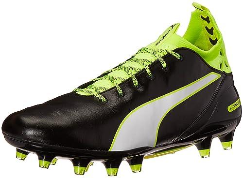 PUMA Men's Evotouch Pro Fg Soccer Shoe, Black/White/Safety Grey, 10.5 M US