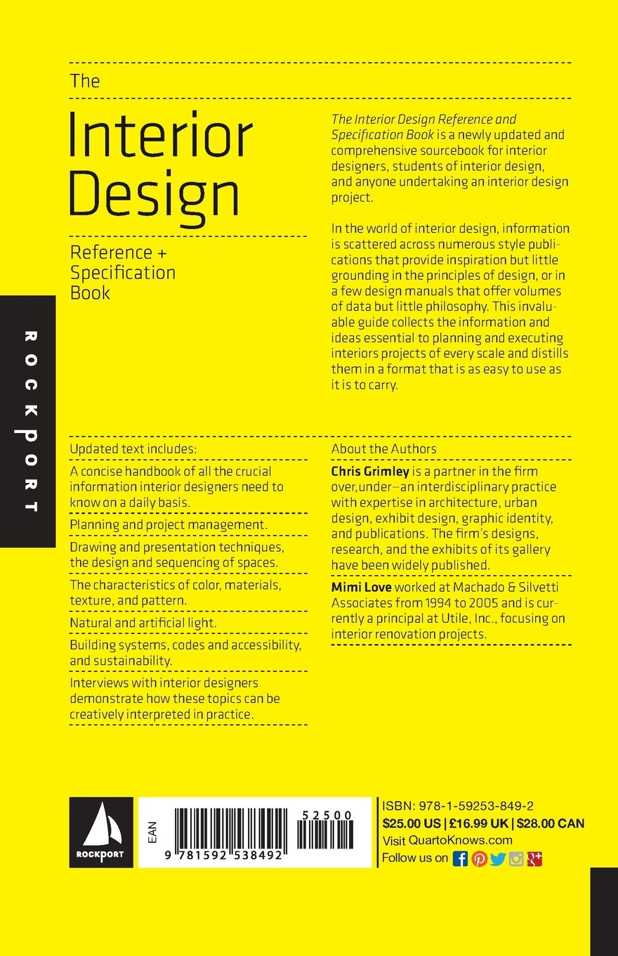Interior design reference manual pdf for The interior design reference specification book