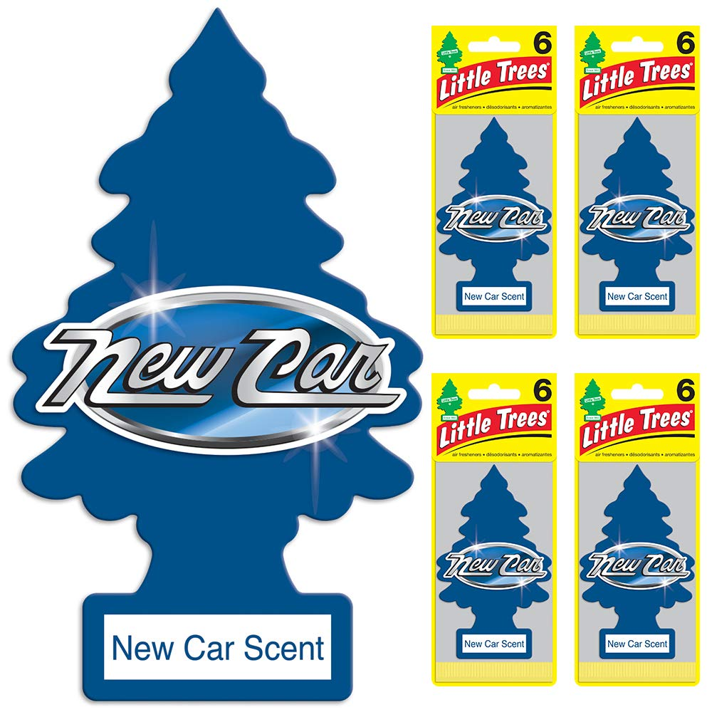 LITTLE TREES Car Air Freshener | Hanging Tree Provides Long Lasting Scent for Auto or Home | New Car Scent