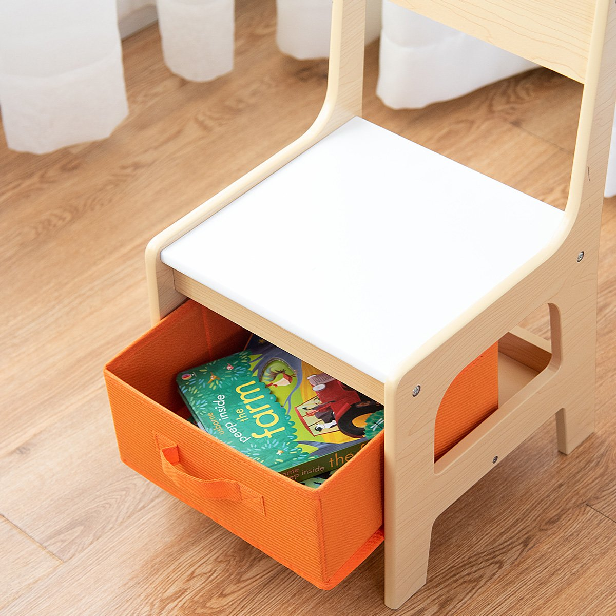 Costway Kids Table Chair Set Double Sid Buy Online In Cambodia At Desertcart