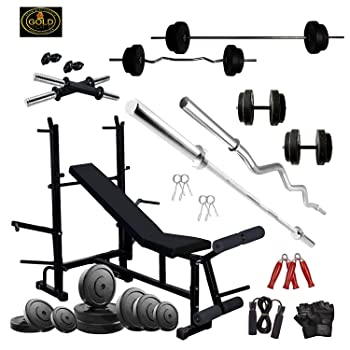 GOLD FITNESS Home Gym Equipment Combo 50