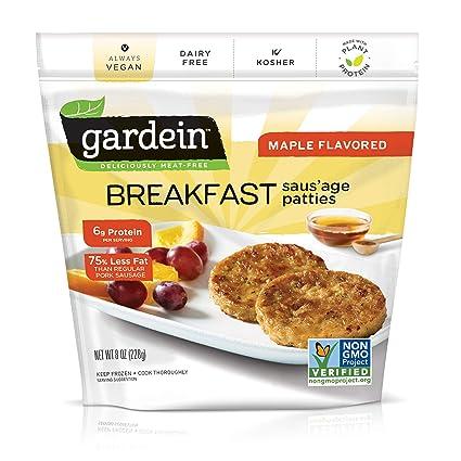 Gardein Maple Flavored Breakfast Plant-Based Saus'age, Vegan, Frozen, 8 oz.