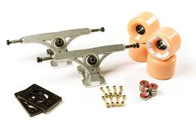 "LONGBOARD TRUCKS COMBO set 71mm SHR WHEELS + 9.675"" freeride trucks Package by Volador (rose) …"
