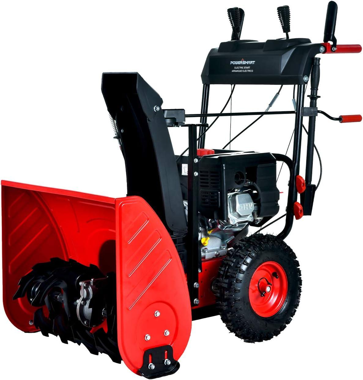 Amazon Com Powersmart Pss2240 X 24 In 212cc 2 Stage Electric Start Gas Snow Blower Garden Outdoor