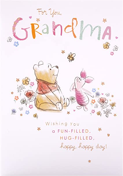 Birthday Card For Grandma From Hallmark Winnie The Pooh Design Amazon Co Uk Office Products
