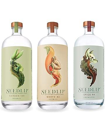 Seedlip Distilled Non-Alcoholic Spirits Sampler (3 Bottles) Grove 42, Spice 94, Garden 108 - 700 ML Each