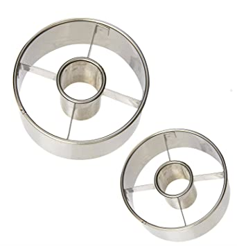 Ateco Stainless Steel Donut Cutter Set of 2 : 2 ½'' and 3 ½''