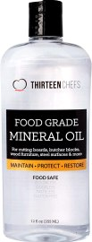 Food Grade Mineral Oil for Cutting Boards, Countertops and Butcher Blocks