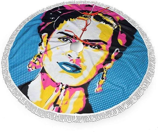 Ukfaaa Christmas Tree Skirt Saatchi Art Frida Kahlo Hand Large Xmas Tree Skirts With Fringed Lace 36 Amazon Co Uk Kitchen Home