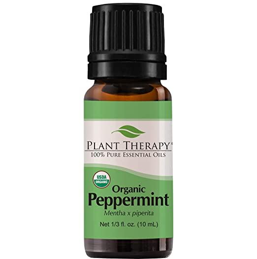 Plant Therapy Peppermint Organic Essential Oil | 100% Pure, USDA Certified Organic, Undiluted, Natural Aromatherapy, Therapeutic Grade | 10 Milliliter (1/3 Ounce)