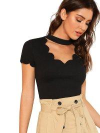 Camiseta de manga larga para mujer economica y barata , camiseta negra tienda online con descuentos