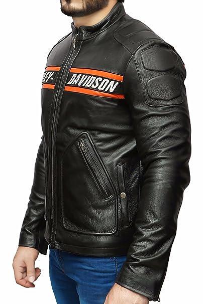 Goldberg Wwe Harley Motorcycle Screaming Eagle Black Hd Cow Leather Jacket Xsmall