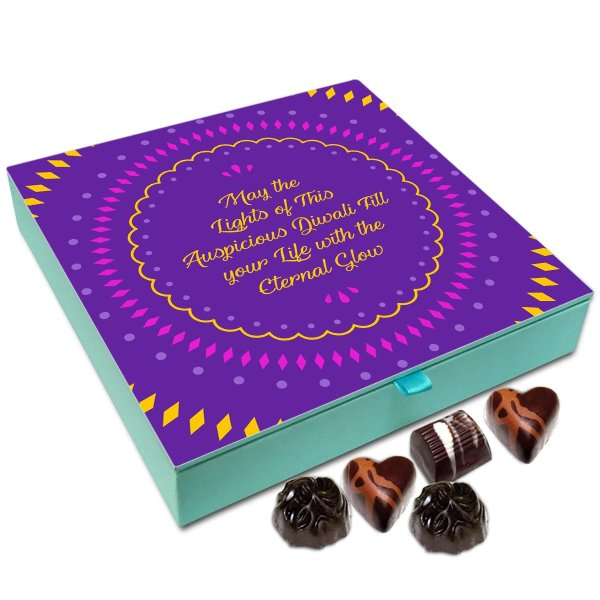 Chocholik Diwali Sweets – May The Lights of Auspicious Diwali Fill Your Life with Eternal Glow Chocolate Box – 9pc