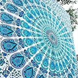 Craftozone  90 x 54 inch Cotton Indian Wall Decor Hippie Tapestries Bohemian Mandala Tapestry Wall Hanging Throw