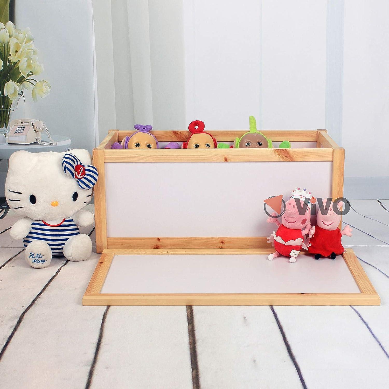 Vivo C Kid S Wooden Toy Storage Chest Unit Box Childrens Toys Boxes Tidy Room Bedroom Xmas Amazon Co Uk Kitchen Home