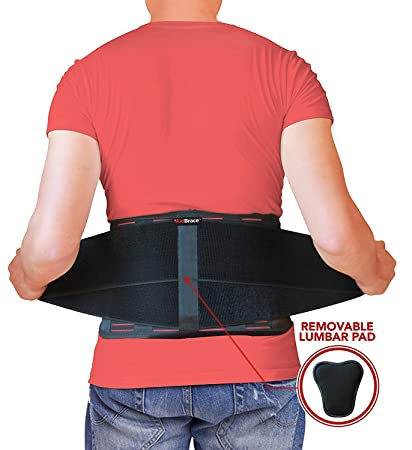 AidBrace Back Brace Support Belt - Helps Relieve Lower Back Pain with Sciatica, Scoliosis, Herniated Disc or Degenerative Disc Disease for Men & Women (L/XL)