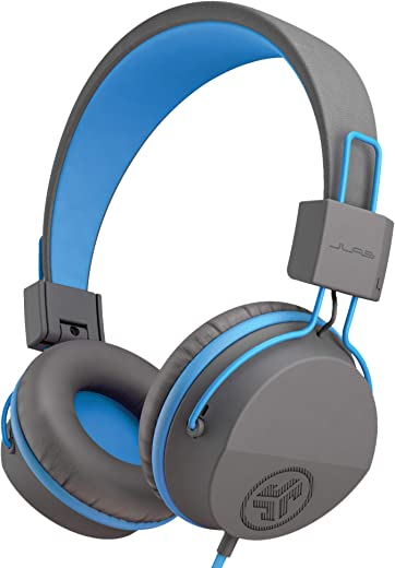 JLab Audio JBuddies Studio Volume Safe, Folding, Over-ear Kids Headphones with Mic - Graphite / Blue
