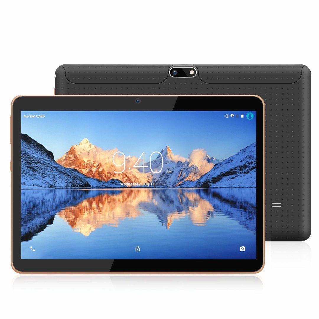 YOTOPT 10.1 Pouces Tablette Tactile - 3G/WiFi, Android 7.0 , Quad Core, 16 Go, 2 Go de RAM, Doule SIM, Bluetooth, GPS, OTG - Noir