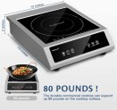 Trighteach Professional Portable Induction Cooktop, 1800W Single Countertop Burner