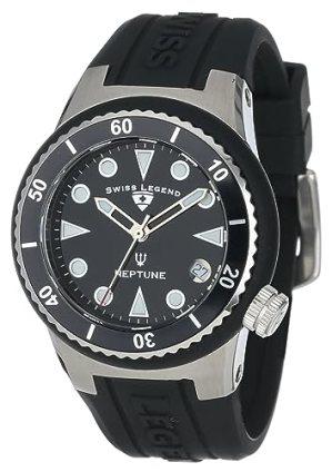 Swiss Legend Women's 11840D-01 Neptune Black Dial Black Silicone Watch