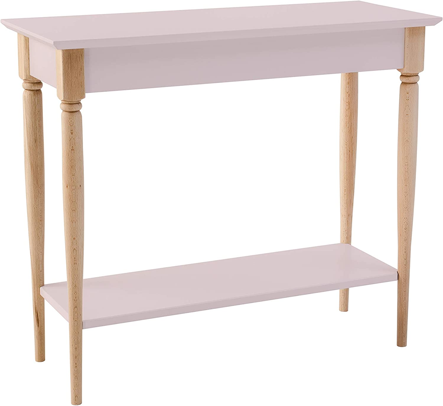 Mamo Console Table Side Table With Shelf Cheap Turned Legs Easy Assembly Fsc Wood Modern 85 X 35 Cm Pink Amazon Co Uk Kitchen Home