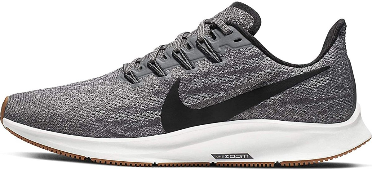 Nike Air Zoom Pegasus 36 Women's Running Shoe Gunsmoke/Oil Grey-White-Gum Light Brown Size 10.5