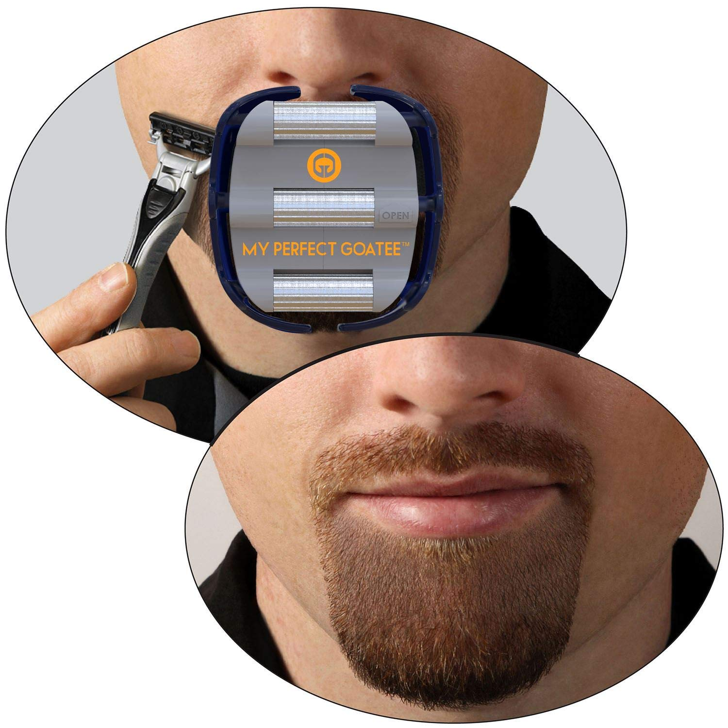 Amazon Com Mens Goatee Shaving Template Create A Perfectly Shaped Goatee Every Time Adjustable Reduces Shaving Time Shape Van Dyke Goatee And Circle Beard By Goateesaver Version 1 1 Health Personal Care