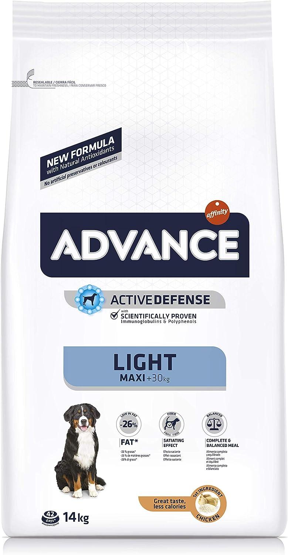 Advance Perro máximo Adult Light Pollo y arroz, 14 kg