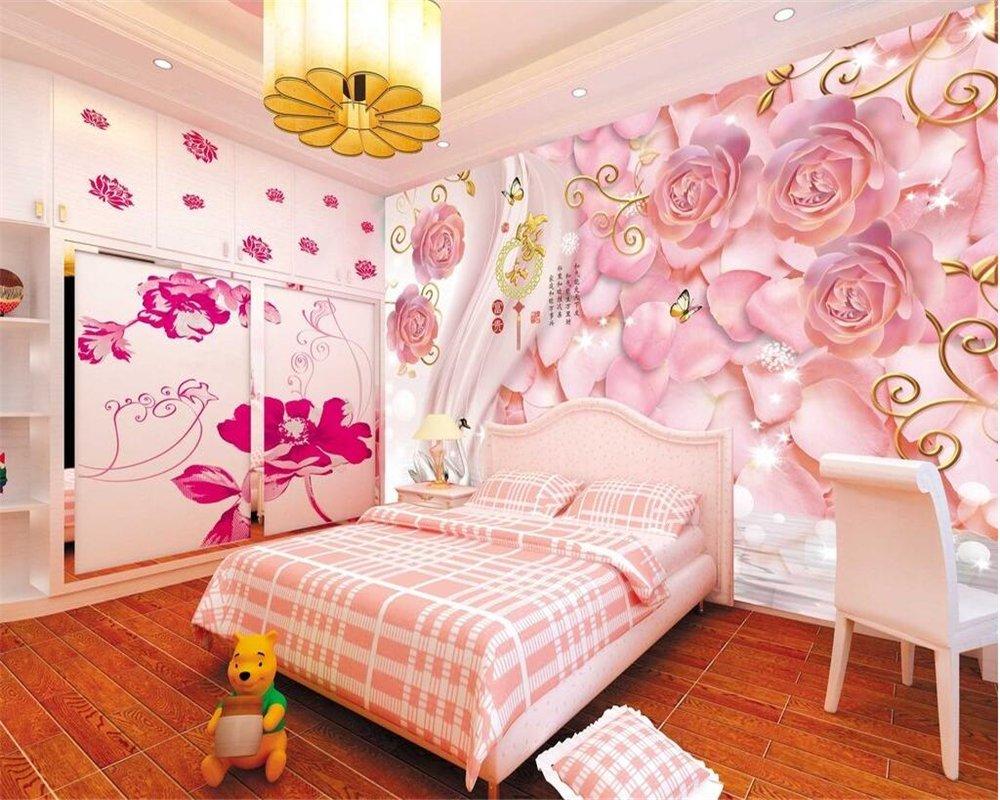 Wapel 3d Wallpaper Fashion Modern Rose Romantic Swan 3d Tv Backdrop Living Room Bedroom Background Wallpaper For Walls 3 D Silk Cloth 300x210cm Buy Online In Indonesia At Desertcart Id Productid 58769037
