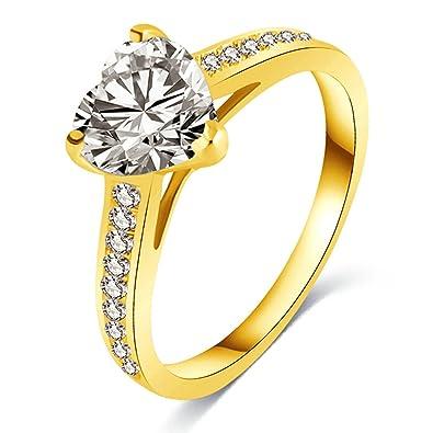Blisfille Damen Ringe Vergoldet Ringe Damen Titan Gold