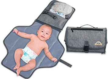 Image result for bluesnail portable clutch diaper bag gray amazon
