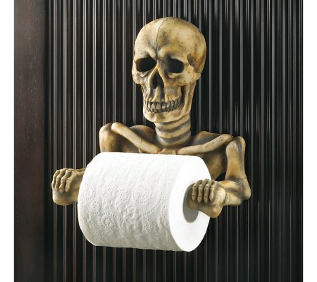 Skeleton Fancy Toilet Tissue Holder