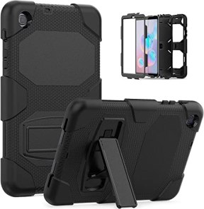 Galaxy Tab A 8.4 Case 2020, Bingcok Heavy Duty Rugged Full-Body Hybrid Shockproof Drop Protection Cover with Kickstand for Samsung Galaxy Tab A 8.4 2020 Model SM-T307 (Black)